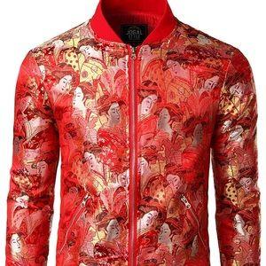 01336 Luxury Paisley Embroidered Satin Bomber